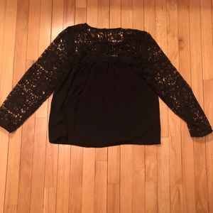 NWT J. Crew lace  and fabric top